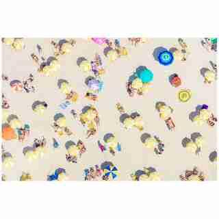 "grey Malin Yellow Umbrellas Fine Art Print – 17"" x 11.5"""