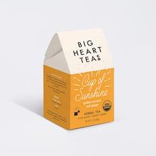 BIG HEART TEA CO. CUP OF SUNSHINE TEA BAGS BOX OF 10