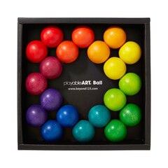 Ensemble de balles en bois de couleur