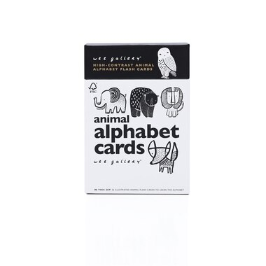 Wee Gallery® Animal Alphabet Learning Cards