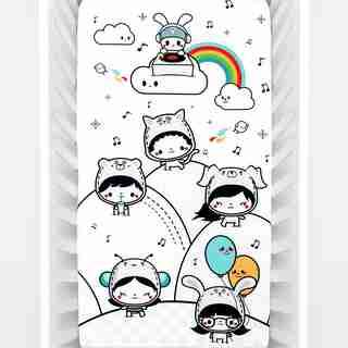 Rookie Humans Party In My Crib Organic Fitted Crib Sheet