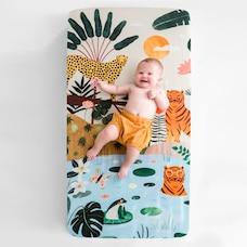 Rookie Humans Drap-housse pour lit de bébé - Dans la Jungle