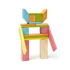 Tegu 24-piece Magnetic Wooden Blocks - Tints