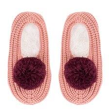 Verloop Pommed Rib Slippers Pink Coral/Wine SM
