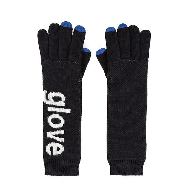Verloop Typography Touchscreen Glove Black
