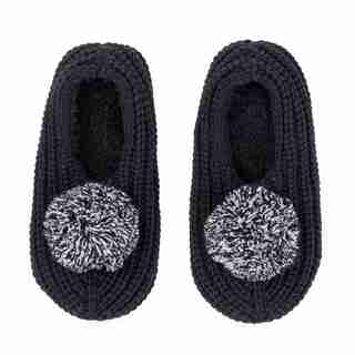 Verloop Pommed Rib Slippers Black Medium/Large