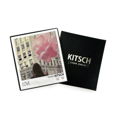Kitsch Love Necklace & Earring Set - Silver