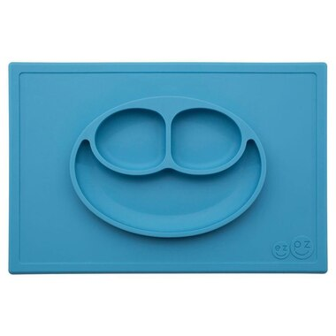 Ezpz Happy Mat All-in-one Placemat And Plate - Blue