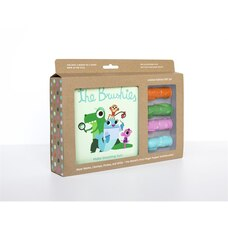Coffret Cadeau Brosettes-Livre d'histoire et 4 marionnettes brosses-à-dents