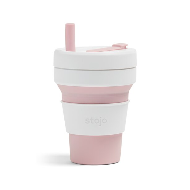 STOJO BIGGIE COLLAPSIBLE CUP ROSE 16 OZ