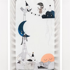 Rookie Humans The Moon's Birthday Fitted Crib Sheet