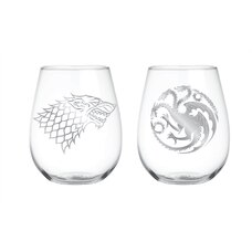Game of Thrones: Stemless Wine Glasses - 2-Pack
