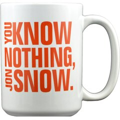 "Game of Thrones: ""You Know Nothing, Jon Snow"" - 15 oz. Mug"