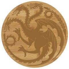 Game of Thrones: Targaryen Sigil - Bamboo Cutting Board