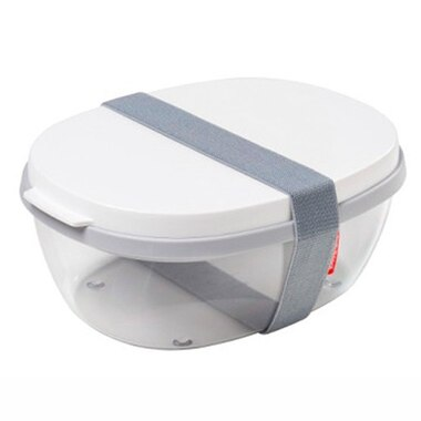 DUO-SALAD BOX ELLIPSE – WHITE