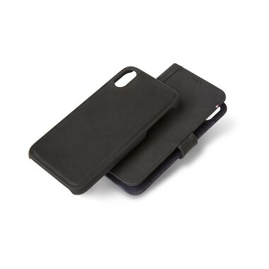 Decoded Leather Case Detachable Wallet for iPXr - Black