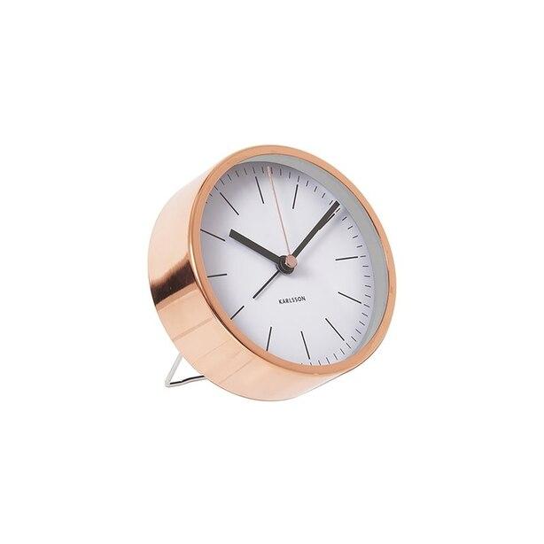 Karlsson Minimal Metal Alarm Clock - Copper