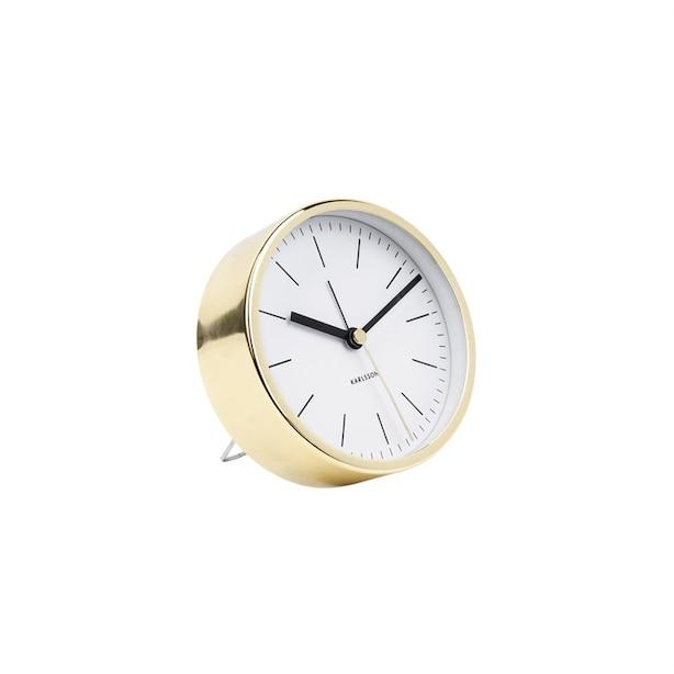 Karlsson Minimal Metal Alarm Clock - Gold