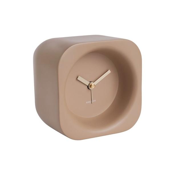Karlsson Chunky Poly Resin Alarm Clock - Sand Brown
