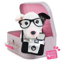 Studio Pets™ Plush Animal, Suitcase and Passport Bull Terrier Puppy Charlie