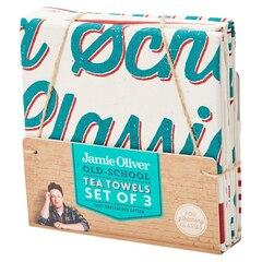 Linges à vaisselle Jamie Oliver avec slogans–Ensemble de 3