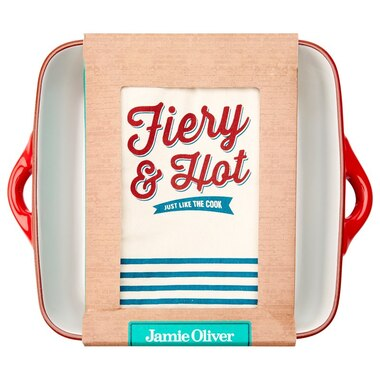 Jamie Oliver Square Terracotta Dish with Oven Mitt
