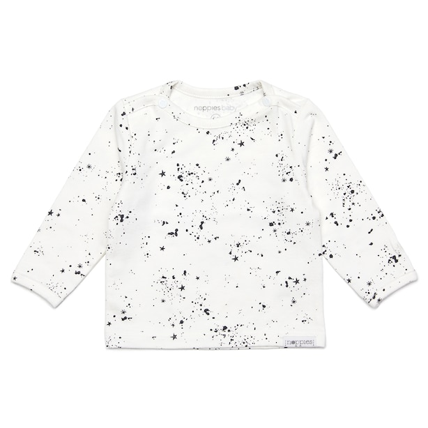 Noppies Unisex Long Sleeve Tee - White Baby 6-9 Months