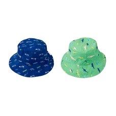 FlapJackKids® Reversible Sun Hat Dinosaur Blue/Green