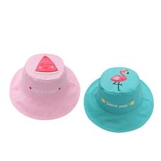 Reversible Sun Hat -  Watermelon / Flamingo