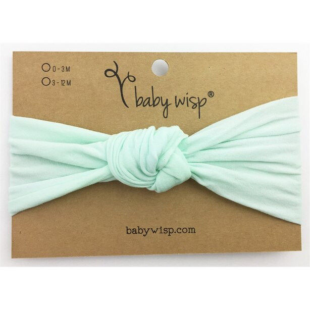 Baby Wisp® Baby Headband Nylon Turban Knot Mint 3 Months Plus