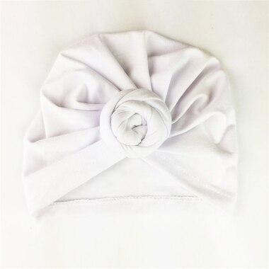 Baby Wisp® Baby Hat Turban Knot White