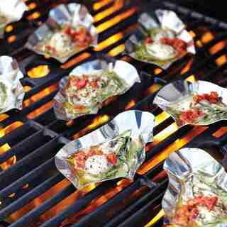 Outset Stainless Steel Grillable Oyster Shells Set of 12