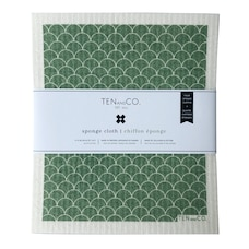 TEN AND CO. SPONGE CLOTHS GREENERY SET OF 4