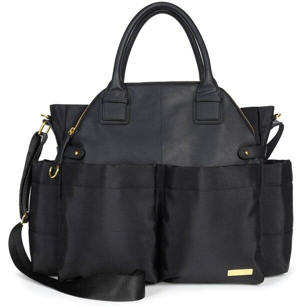 Chelsea Downtown Chic Diaper Bag Satchel Black