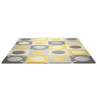 Skip Hop Playspot Foam Floor Tiles - Gold/Grey