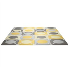 Skip Hop PLAYSPOT Geo Foam Floor Tiles, Grey/Gold