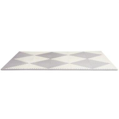 Skip Hop PLAYSPOT Geo Foam Floor Tiles, Grey/Cream