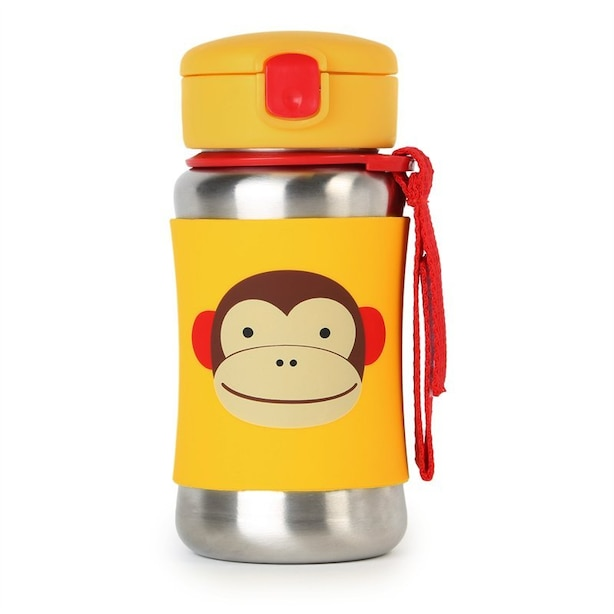 SKIP HOP ZOO STAINLESS BOTTLE, MONKEY