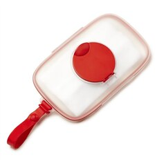 GRAB & GO SNUG SEAL WIPES CASE, RED