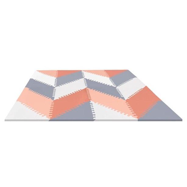 Skip Hop PLAYSPOT Geo Foam Floor Tiles Grey/Peach