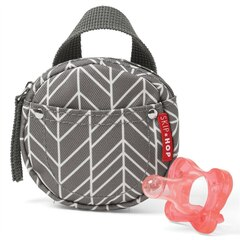 GRAB & GO PACIFIER POCKET, GREY FEATHER