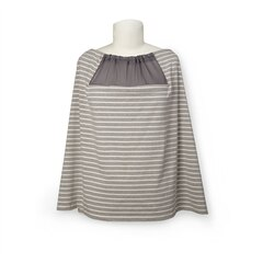 GRAB & GO NURSING SCARF, GREY STRIPE