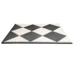 Skip Hop PLAYSPOT Geo Foam Floor Tiles, Black/Cream