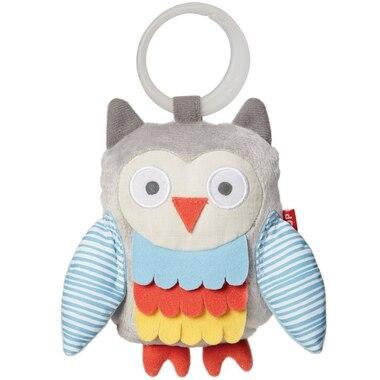 TREETOP OWL STROLLER TOY, GREY PASTEL