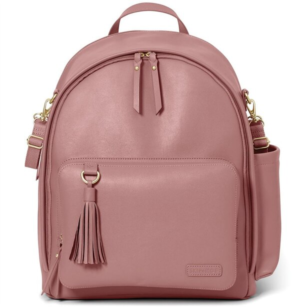 GREENWICH SIMPLY CHIC DIAPER BACKPACK, DUSTY ROSE