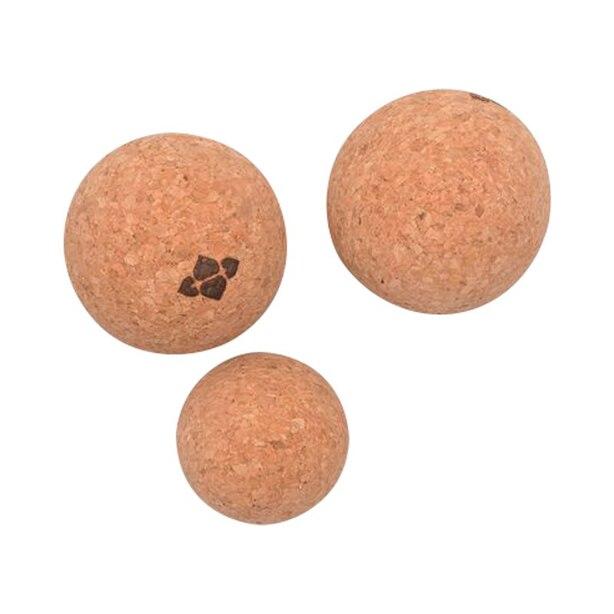 Halfmoon Natural Cork Massage Ball Trio