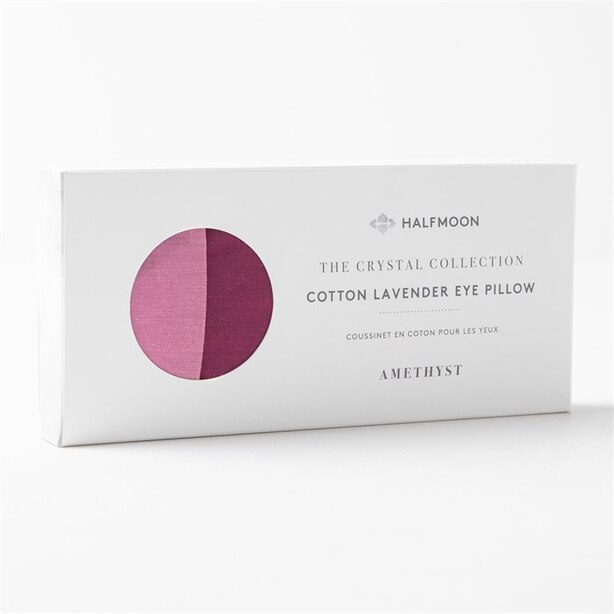 HALFMOON AMETHYST CRYSTAL EYE PILLOW