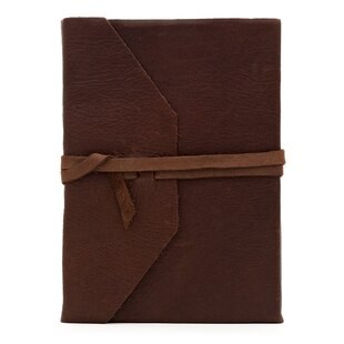 Rich Leather Wrap Journal Dark Brown