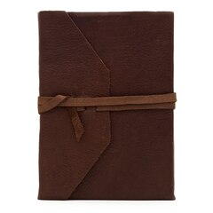 Rich Leather Wrap Journal Dark Brown  by Natalizia