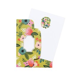 """Rifle Paper Co. Floral Monogram Note Cards """"E"""", Set of 8"""